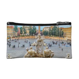 Piazza del Popolo, Rome, Italy Makeup Bag