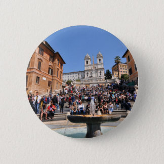 Piazza di Spagna, Rome, Italy 2 Inch Round Button