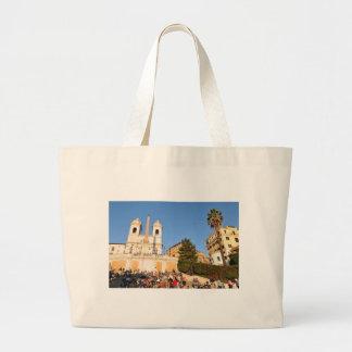 Piazza di Spagna, Rome, Italy Large Tote Bag