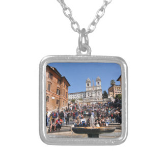 Piazza di Spagna, Rome, Italy Silver Plated Necklace