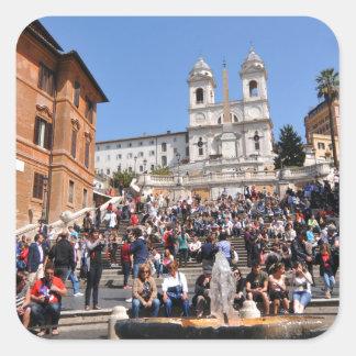 Piazza di Spagna, Rome, Italy Square Sticker