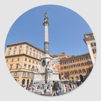 Piazza Navona in Rome, Italy Classic Round Sticker