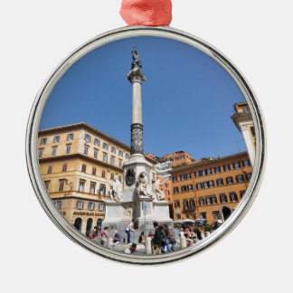 Piazza Navona in Rome, Italy Metal Ornament