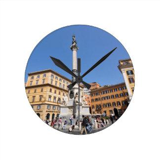 Piazza Navona in Rome, Italy Round Clock