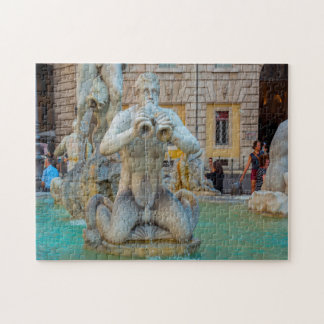 Piazza Navona  Rome Italy . Jigsaw Puzzle
