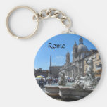 Piazza Navona- Rome, Italy Basic Round Button Keychain