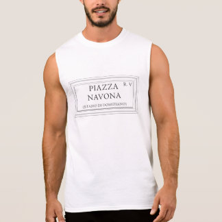 Piazza Navona, Rome Street Sign Sleeveless Shirt