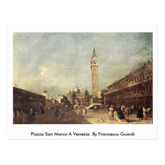Piazza San Marco A Venezia. By Francesco Guardi Postcard