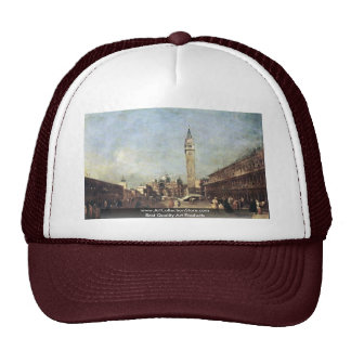 Piazza San Marco A Venezia. By Guardi Francesco Trucker Hat