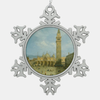Piazza San Marco Snowflake Pewter Christmas Ornament