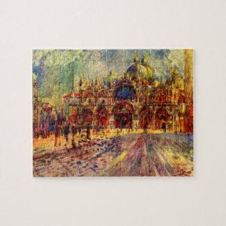 Piazza San Marco, Venice by Pierre Renoir Jigsaw Puzzle