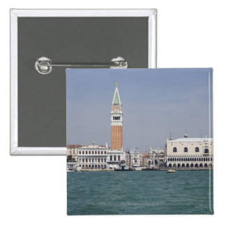 Piazza San Marco Venice Italy 2 Inch Square Button