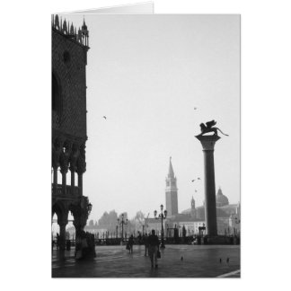 Piazza San Marco Venice Italy Winged Lion Card