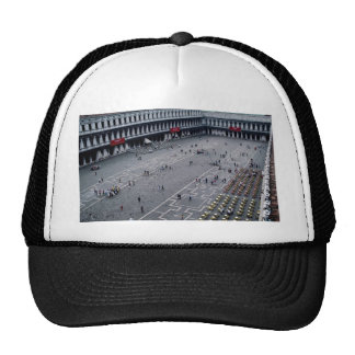 Piazza San Marco with outdoor cafe on right, Venic Mesh Hat