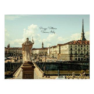 Piazza Vittorio, Torino, Italy Postcard