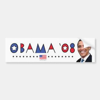 PIC abstraite 2008 d'Obama Autocollant De Voiture