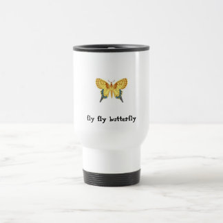 pic, pic, pic, fly fly butterfly travel mug