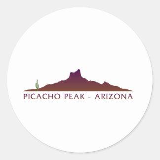 Picacho Peak - Arizona Round Sticker