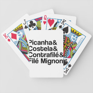 PICANHA, RIB, CONTRAFILÉ, MIGNON BICYCLE PLAYING CARDS