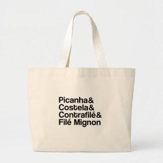 PICANHA, RIB, CONTRAFILÉ, MIGNON LARGE TOTE BAG