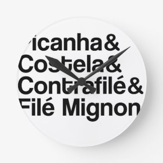 PICANHA, RIB, CONTRAFILÉ, MIGNON ROUND CLOCK