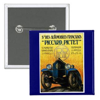 Picard Pictet Vintage Car Advertisement Button