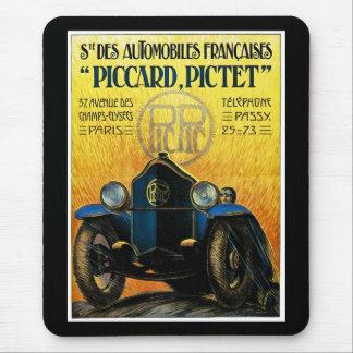 Picard Pictet Vintage Car Advertisement Mouse Pads