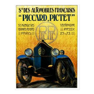 Picard Pictet Vintage Car Advertisement Postcard