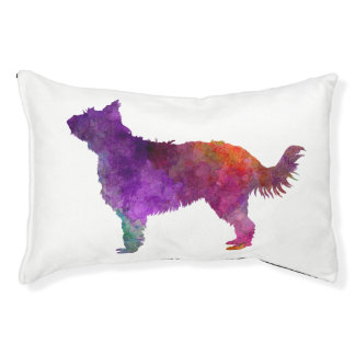 Picardy Sheepdog in watercolor Pet Bed