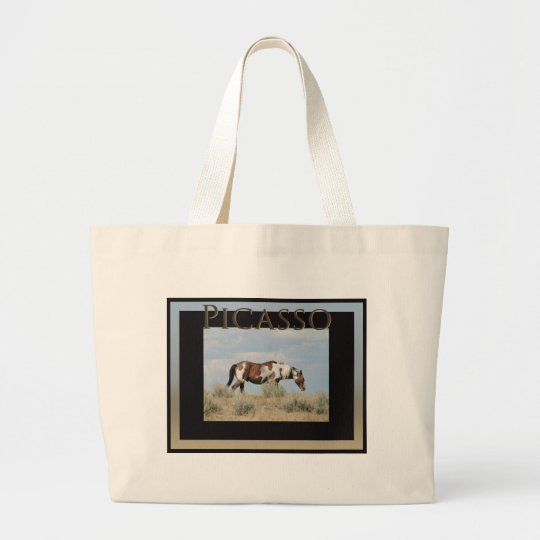 Picasso, Stallion of Sand Wash Basin, Colorado Large Tote Bag