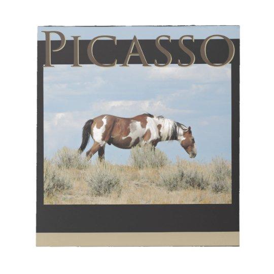 Picasso, Stallion of Sand Wash Basin, Colorado Notepad