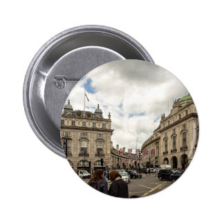 Piccadilly Circus 2 Inch Round Button