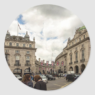 Piccadilly Circus Classic Round Sticker