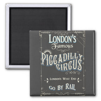 Piccadilly Circus London vintage poster Magnet