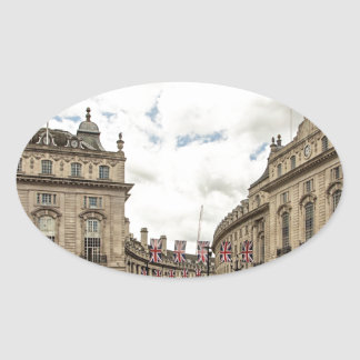 Piccadilly Circus Oval Sticker