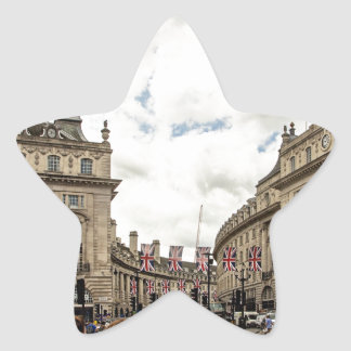 Piccadilly Circus Star Sticker