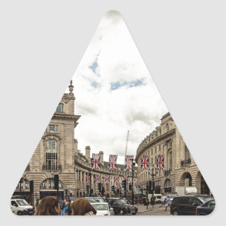 Piccadilly Circus Triangle Sticker