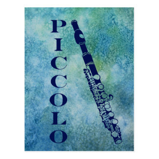 Piccolo on Blue Postcard