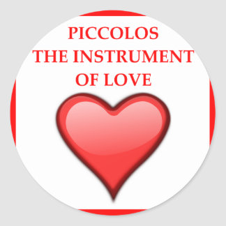 PICCOLOS CLASSIC ROUND STICKER