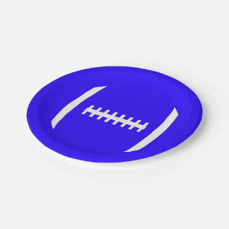 Pick A Color Football Laces Team Party Plates