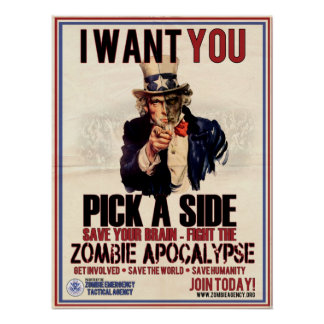 Pick a Side Uncle Sam Poster