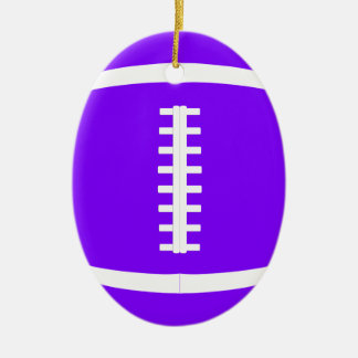 Pick Any Color Custom American Football Christmas Ceramic Ornament