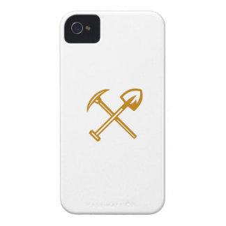Pick Axe Shovel Crossed Retro Case-Mate iPhone 4 Cases