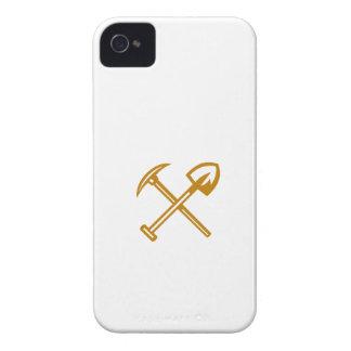 Pick Axe Shovel Crossed Retro iPhone 4 Case-Mate Case