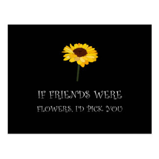 Pick Friends Flowers White.png Postcard