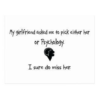 Pick Girlfriend or Psychology Postcard