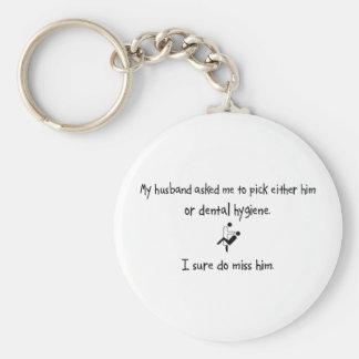 Pick Husband or Dental Hygiene Basic Round Button Keychain