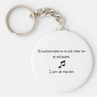 Pick Husband or Orchestra Basic Round Button Keychain