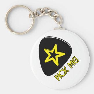 Pick Me! Basic Round Button Keychain