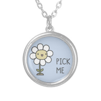 Pick Me Silver Plated Necklace